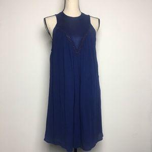NWT- Volcom Blue Dress with See Through Detail (M)
